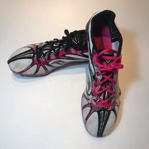 Saucony Running shoes track spikes EUC